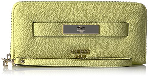 GUESS Darby Large Zip Around Wallet - Lime - One Size