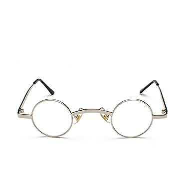 8a9c80c1669c0e Huicai Petites lunettes de soleil rondes Cadre en métal Polycarbonate  Lentilles Unisexe Lunettes