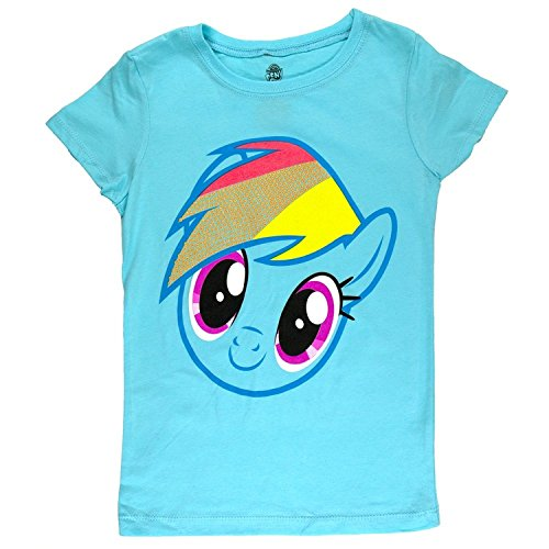 My Little Pony - Rainbow Dash Face Girls Juvy T-Shirt - Juvy 5/6