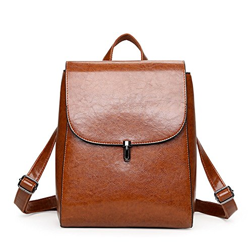 Teenage Mynos PU for Handbags Shoulder Brown Backpack Fashion Women's College Brown Dual Leather use Girls rPv5rwHq