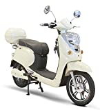 Electric Bike Moped in White