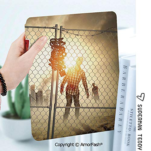Case for Samsung Galaxy Tab A 8.0 2017 Release for T380/T385,Auto Wake/Sleep,Zombie Decor Dead Man Walking Dark Danger Scary Scene Fiction Halloween Infection Picture]()