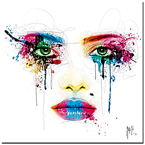 Colors - acrylic glass picture by Patrice Murciano , 30 cm x 30 cm , digital printed on Plexiglass, motive appears precious and luminous, ready to hang picture, Pop Art , Cyber Art, Punk Sahm-Bilder Sahm-Gallery Galeria Andreas s.c.
