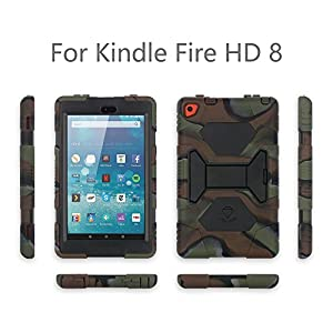 iPad mini case, iPad mini 2 case, iPad mini 3 case cover, ACEGUARDER Full Body Protective Shockproof Silicone Case with Built-in Screen Protector and Adjustable Kickstand for Kids Baby by ACEGUARDER