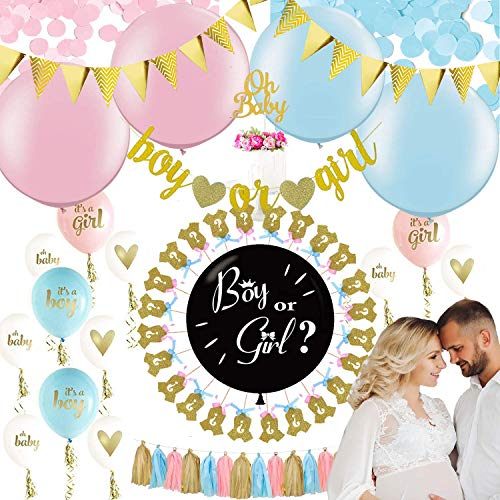 Gender Reveal Party Supplies | Gender Reveal Balloon, Baby Shower Decorations Set, Baby Gender Reveal Party Supplies, Baby Reveal Party Supplies, Gender Reveal Ideas, Gender Reveal Decorations -