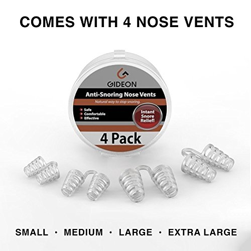 Gideon Anti-Snoring Nose Vents – Natural and Instant Snore Relief (Pack of 4) / Stop Snoring Solution - Natural, Fast and Simple [UPGRADED VERSION] by Gideon (Image #1)