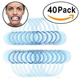 40 Pack Dental Cheek Retractor for Watch Ya Mouth/Speak Out Game C-SHAPE Adult Teeth Whitening Intraoral Cheek Lip Retractors Mouth Opener-Best Dental Blue Color Small & Medium for Both Adults & Kids