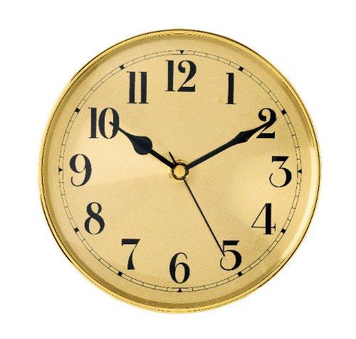 """5-7/8 Gold Arabic Clock Insert - Overall diameter: 5-7/8"""" Mounting depth: 15/16"""" Mounting diameter: 3-1/4"""" - wall-clocks, living-room-decor, living-room - 51kGdob2HkL -"""