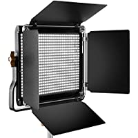 Neewer Professional Metal LED Video Light for Studio, YouTube, Product Photography, Video Shooting, Durable Metal Frame, Dimmable 660 Beads, with U Bracket and Barndoor, 5600K, CRI 96+
