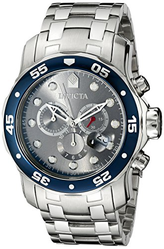 - Invicta Men's 80059 Pro Diver Analog Display Swiss Quartz Silver Watch