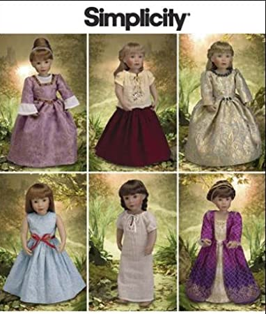 Amazon Simplicity Sewing Pattern 40 40 Doll Clothes Colonial Gorgeous Colonial Dress Patterns