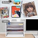 eMerit Wood Desktop Organizer Paper Storage