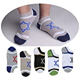 "SUSocks No Show Liner Men's Socks Cotton Cool Crew Socks ""5 Pair"""