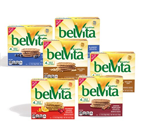 belVita Breakfast Biscuits Variety Pack, 5 Count Box, 8.8 Ounce (Pack of - Breakfast Biscuits