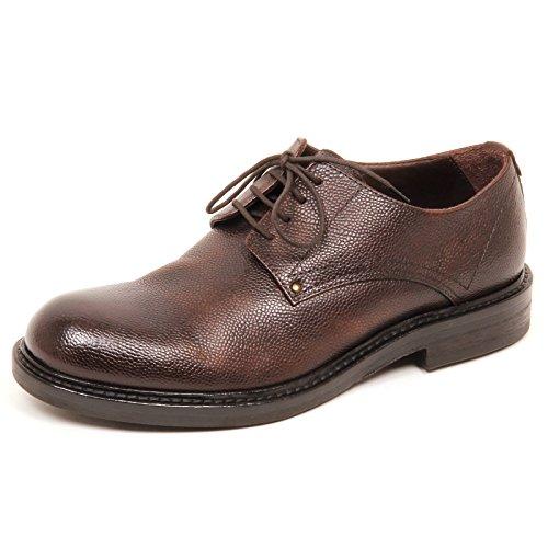 HUNDRED 100 E0652 Scarpa Uomo Brown Scarpe Vintage Shoe Man Marrone