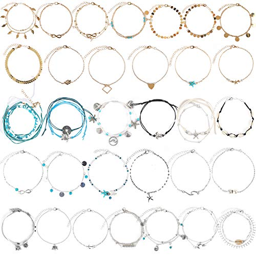 Isbasa 32pcs Ankle Chains...