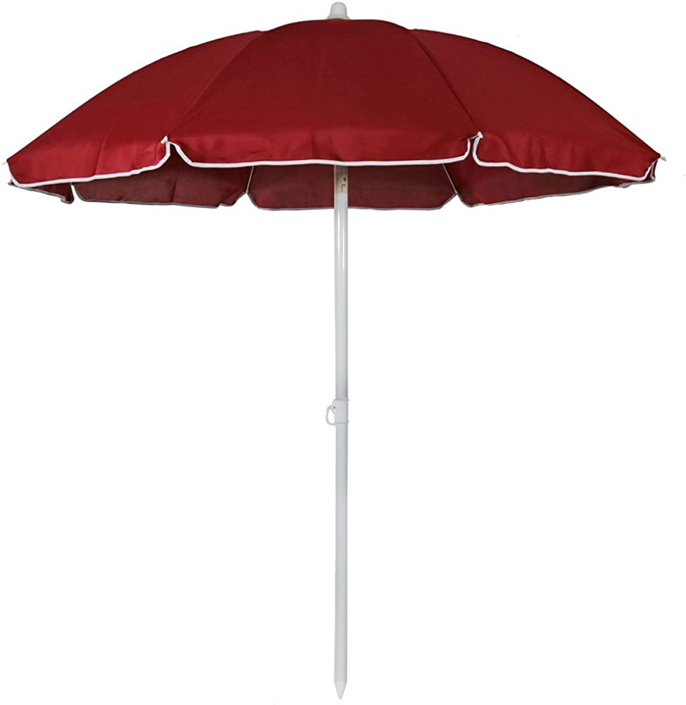 Sunnydaze Steel 5 Foot Beach Umbrella