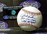 Autograph 125793 Inscribed Ted Williams Last At Bat Smudged Spotty Discounted Jack Fisher Autographed Baseball
