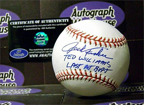 Autograph 125793 Inscribed Ted Williams Last At Bat Smudged Spotty Discounted Jack Fisher Autographed (Williams Autograph Baseball)