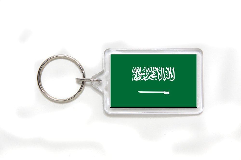 Saudi Arabia Arabian Flag Double Sided Acrylic Key Ring Small