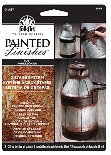 - FolkArt Painted Finishes Set (2 Ounce), 5066 Light Dark Rust Carded, 2 oz,