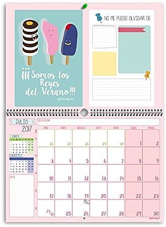 Qué Way! - Calendario de pared - 2017: Amazon.es: Oficina y papelería