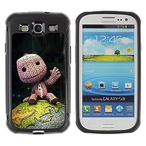 Suave TPU GEL Carcasa Funda Silicona Blando Estuche Caso de protección (para) Samsung Galaxy S3 III I9300 / CECELL Phone case / / Cute Happy Fellow /