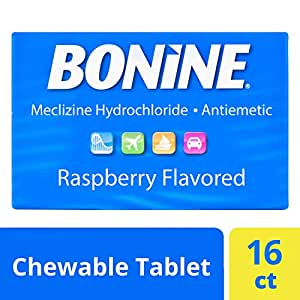 Bonine Motion Sickness Relief Chewable Tablets, Raspberry 16 ct