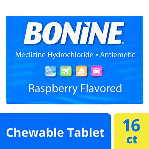 Bonine Motion Sickness Relief Chewable Tablets, Raspberry 16 ct. (Best Travel Sickness Tablets For Dogs)
