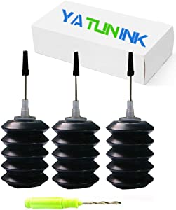 YATUNINK Refill Ink Refill Kit 30ml Replacement for Canon PG-245XL Cl-246XL Refill Ink Kit Work with PIXMA MG2520 MG2920 MG2922 MG2924 MG2420 MG2522 MG2525 MG3020 MG2555 MX490 MX492 Printer(3x30ML BK)