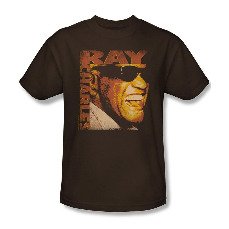 Ray Charles - Mens Singing Distressed T-Shirt