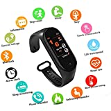 SBA999 ABM402 M4 Smart Fitness Band, Fitness Tracker Watches for Men | Women | Kids | Unisex Sports Activity Tracker Watch Step Counter Calories Burned, Sleep Monitor SMS, Call Reminde, Camera Shoot