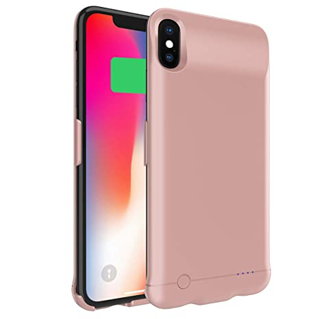 Happon Funda Bateria iPhone XS MAX, 6200mAh Batería Cargador Externa Ultra Carcasa Batería Recargable Power Bank Portatil para iPhone XS MAX - Oro ...