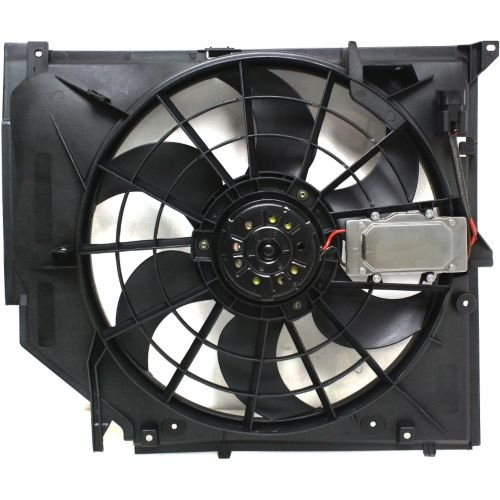 MAPM Premium 3-SERIES 99-06 RADIATOR FAN SHROUD ASSEMBLY, w/ module by Make Auto Parts Manufacturing (Image #1)