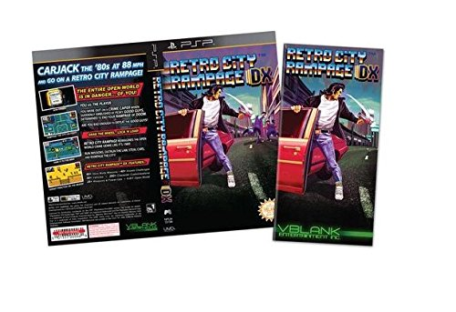 Retro City Rampage DX PS4 Video Game (Limited Gold Cover Variant #/3000) + PSP Bonus (Ps4 Retro City Rampage)