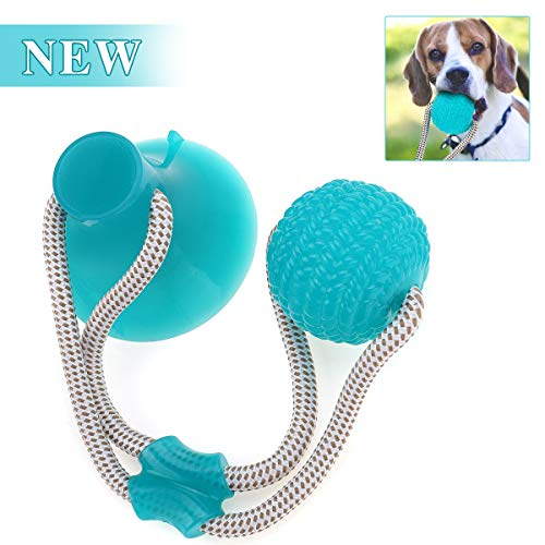 CHARMINER Pet Molar Bite Toy, Suction Cup Dog Toy, Playing Chew Ball Toy with Rope, Tug Dog Toy for Playing Tugging…