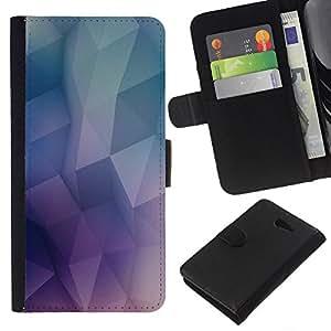 YiPhone /// Tirón de la caja Cartera de cuero con ranuras para tarjetas - Patrón Geometría de neón - Sony Xperia M2