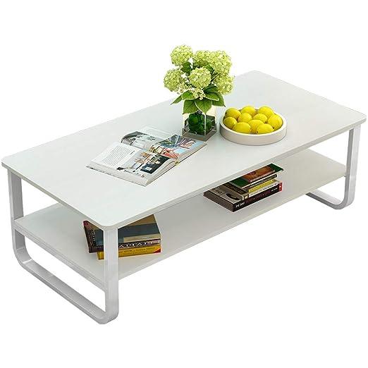Cloudro Mesa de café doble, simple, moderna, para sala de estar ...