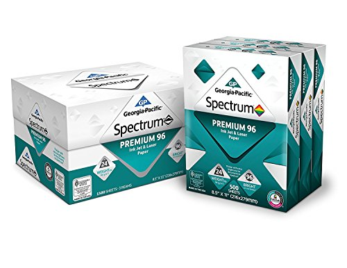 GP Spectrum Premium 96 Ink Jet & Laser Paper WB1KY, 8.5 x 11 Inches, 9-Ream (4500 Sheets) by Georgia-Pacific
