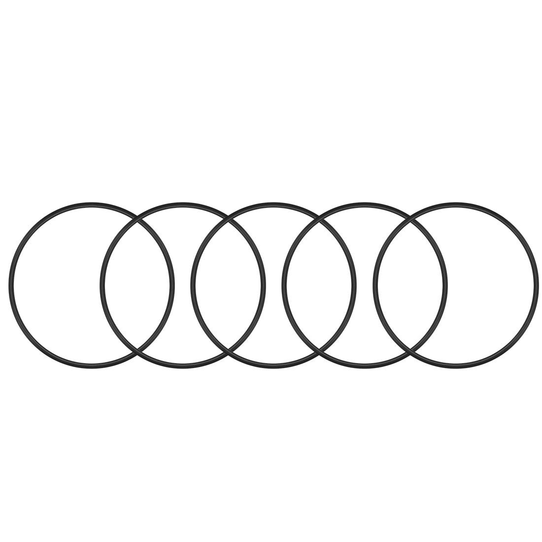 sourcing map O-ring Nitrile Gomma 103.8mm x 110mm x 3.1mm Guarnizioni anelli di tenuta 5pz