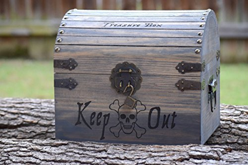 Kids Toy Chest - Kids Treasure Chest - Personalized Gift for Kids - Children's Treasure Chest - Gift for Kids - Pirate Treasure Chest (Toy Chest Finish)