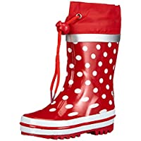 Playshoes Dots Collection Rubber Rain Boots (2 M US Little Kid, Red)