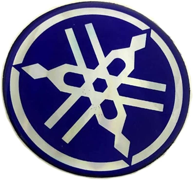 Blue isbridge Replacement Fit For 65mm Emblem Logo Tuning Fork Flat Decal Sticker Y@H