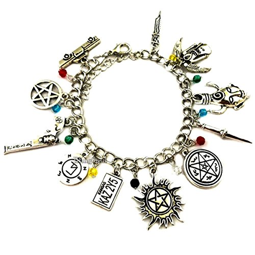 (Natural Super Charm Bracelets Jewelry Merchandise - Dean Winchester Bracelet Gift for)