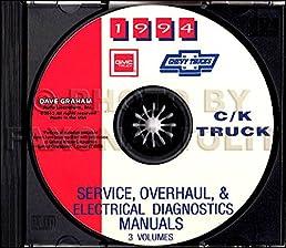 fully illustrated 1994 chevrolet truck pickup factory repair shop rh amazon com 2013 Chevy Silverado C1500 2004 Chevrolet Silverado C1500