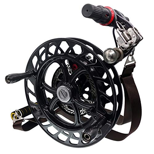 emma kites 12.6'' Black Kite Winder Reel with Disc Brake Shoulder Strap 7 Rollers for Kite Line in and Out by emma kites (Image #6)
