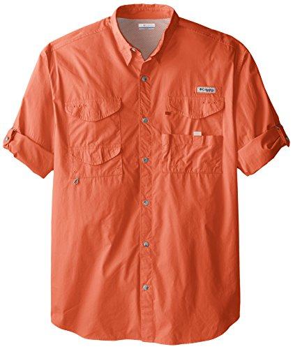 Columbia Men's Bonehead Long Sleeve Shirt, 3X/Tall, Bright Peach
