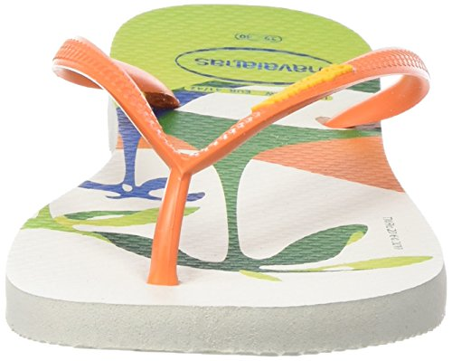 Havaianas SLIM RIO 2016 - Chancletas Mujer Multicolor (WHITE/ORANGE 0239)