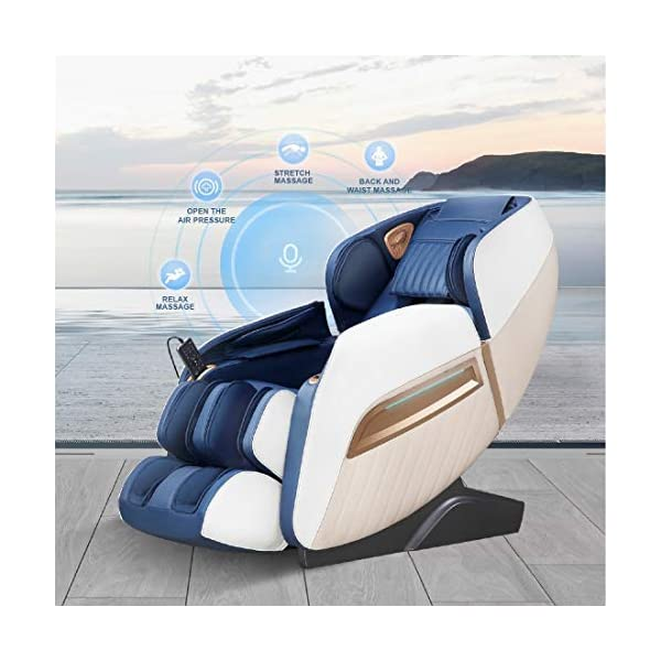 51kGirI5ynL Future Massager Full Body 3D 3D Luxury Zero-gravity Massage Chair Junior Roboking Plus with Bluetooth speaker & Charging slot (Blue) with One year warranty
