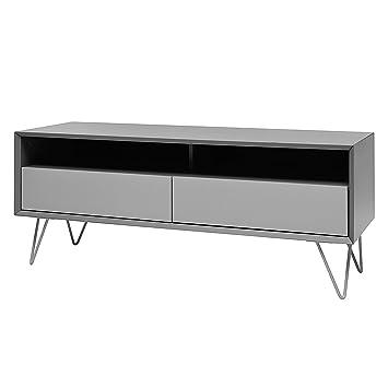 Tv lowboard design  More VINTAGE-Design TV-G TV Lowboard-MDF lackiert und Metall ...